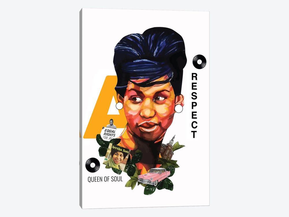 Aretha Franklin by Domonique Brown 1-piece Art Print