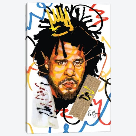 J. Cole Canvas Print #DMQ37} by Domonique Brown Canvas Print