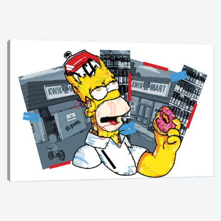 Homer Simpson Canvas Print #DMQ38} by Domonique Brown Canvas Art
