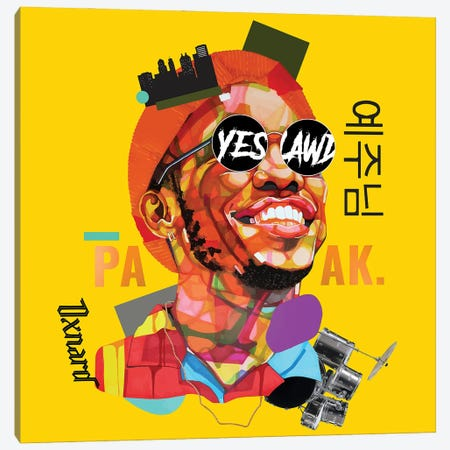 Anderson Paak Canvas Print #DMQ42} by Domonique Brown Canvas Art Print