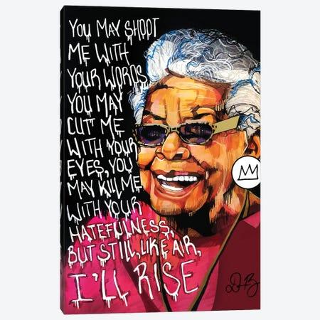 Maya Angelou Canvas Print #DMQ43} by Domonique Brown Art Print