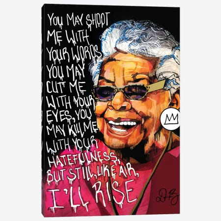 Maya Angelou Canvas Print #DMQ43} by Domonique Brown Art Print