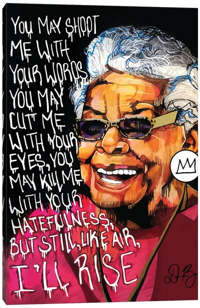Maya Angelou Canvas Art Print