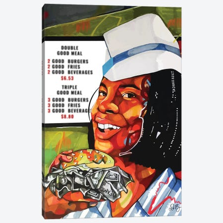 Good Money Canvas Print #DMQ45} by Domonique Brown Canvas Artwork