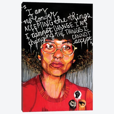 Angela Davis Canvas Print #DMQ46} by Domonique Brown Canvas Art