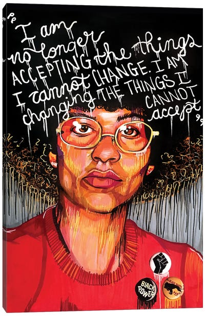Angela Davis Canvas Art Print