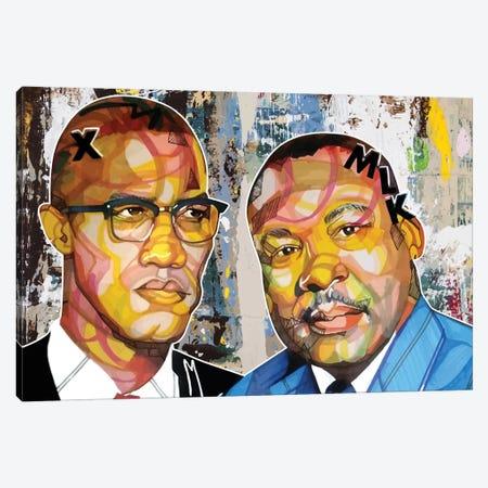 Malcolm X Martin Canvas Print #DMQ52} by Domonique Brown Canvas Art