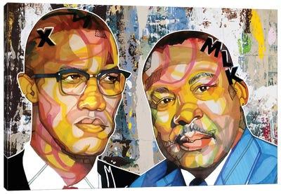 Malcolm X Martin Canvas Art Print