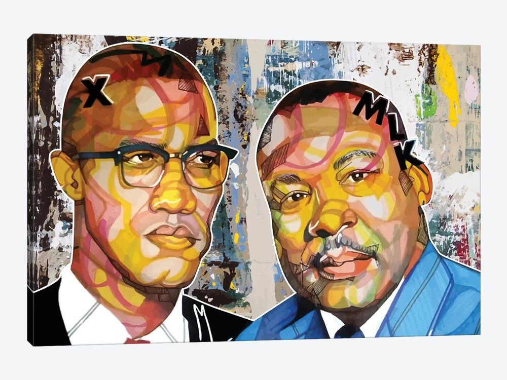 Malcolm X Martin by Domonique Brown 1-piece Art Print