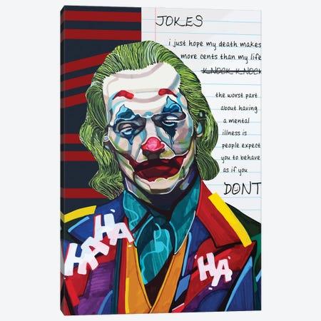 Joker Canvas Print #DMQ54} by Domonique Brown Canvas Print