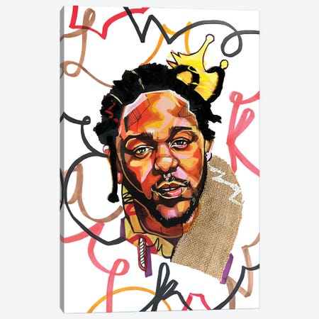 Kendrick Lamar Canvas Print #DMQ57} by Domonique Brown Canvas Print