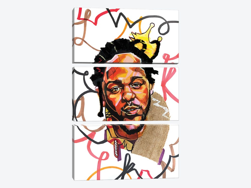 Kendrick Lamar by Domonique Brown 3-piece Canvas Wall Art