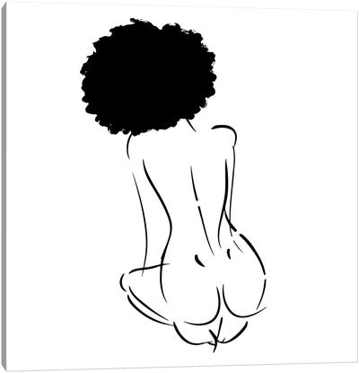 Nude in Black No. 2 Canvas Art Print
