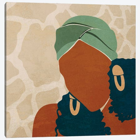 Head Wrap No. 1 Canvas Print #DMQ63} by Domonique Brown Art Print
