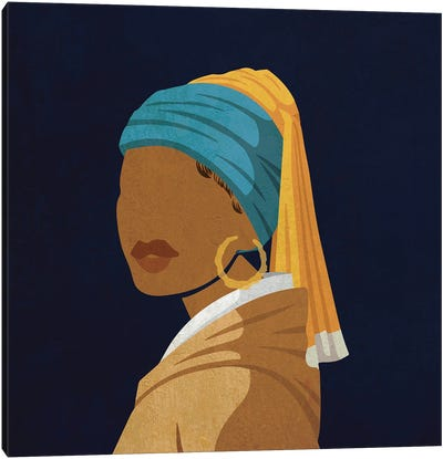 Girl With A Bamboo Earring Canvas Art Print