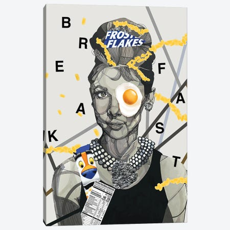 Breakfast on Tiffany's Canvas Print #DMQ75} by Domonique Brown Canvas Print