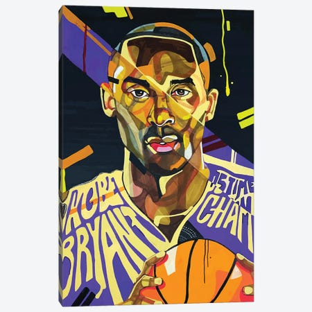 Kobe Bryant 3-Piece Canvas #DMQ7} by Domonique Brown Canvas Artwork