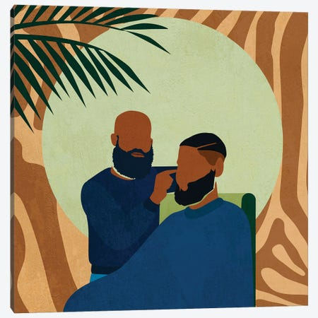 Barbershop No. 1 Canvas Print #DMQ80} by Domonique Brown Art Print