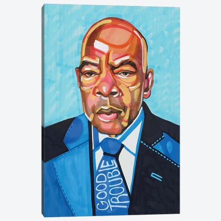 John Lewis Canvas Print #DMQ83} by Domonique Brown Canvas Art Print