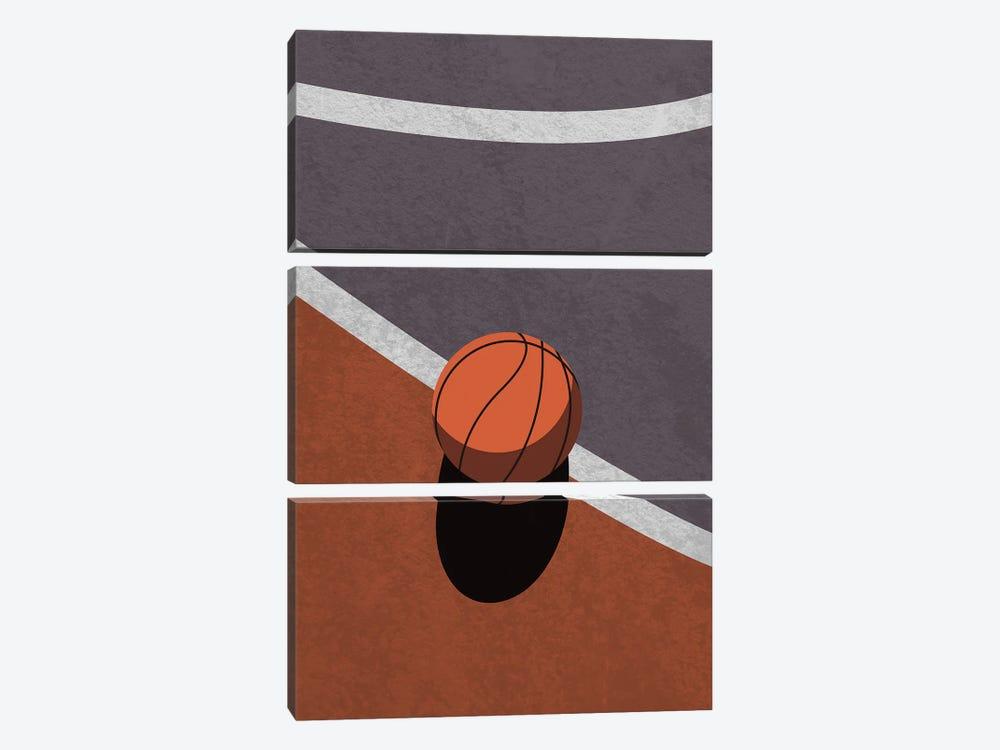Dear Basketball by Domonique Brown 3-piece Canvas Art Print