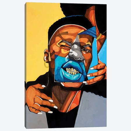 Gold Teeth Canvas Print #DMQ8} by Domonique Brown Art Print
