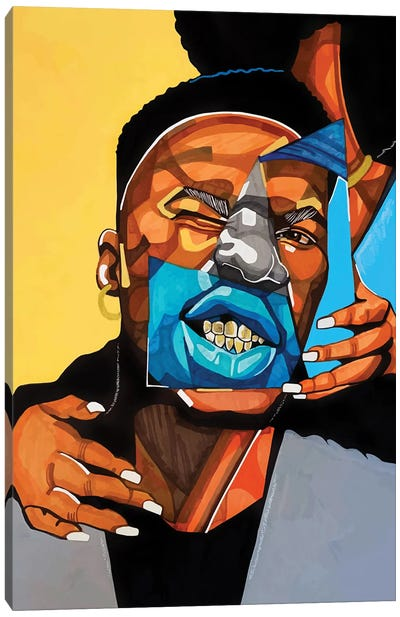 Gold Teeth Canvas Art Print