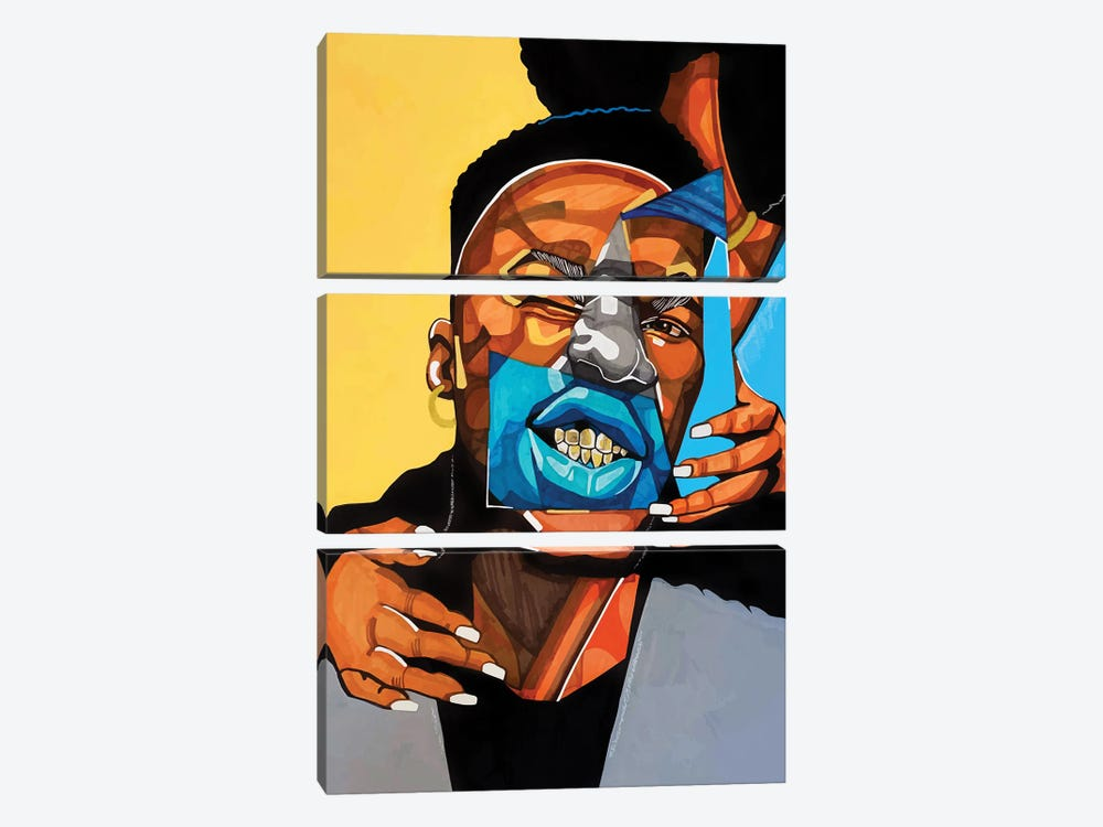 Gold Teeth by Domonique Brown 3-piece Canvas Art Print