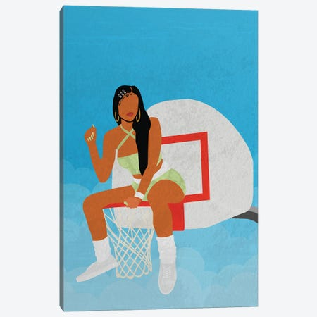 Hoops Canvas Print #DMQ90} by Domonique Brown Canvas Artwork