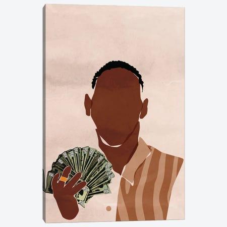 I am a Rich Man Canvas Print #DMQ93} by Domonique Brown Canvas Artwork