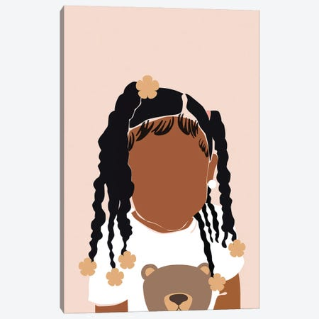 Baby Girl Canvas Print #DMQ97} by Domonique Brown Canvas Art Print