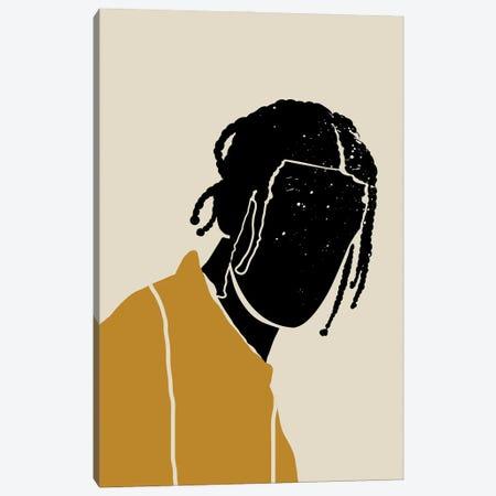 Black Hair I Canvas Print #DMQ9} by Domonique Brown Canvas Art Print