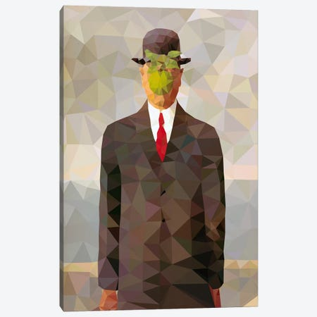 Son of Man Derezzed Canvas Print #DMS12} by 5by5collective Canvas Wall Art