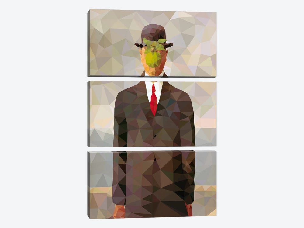 Son of Man Derezzed by 5by5collective 3-piece Canvas Artwork