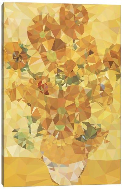 Sunflowers Derezzed Canvas Art Print