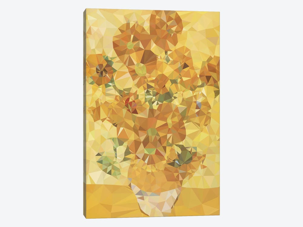 Sunflowers Derezzed by 5by5collective 1-piece Art Print