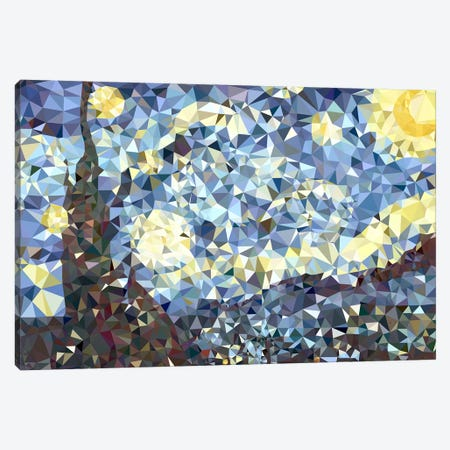 The Starry Night Derezzed Canvas Print #DMS15} by 5by5collective Art Print