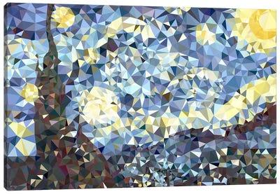 The Starry Night Derezzed Canvas Art Print