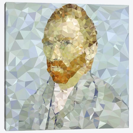 Vincent Derezzed Canvas Print #DMS16} by 5by5collective Art Print