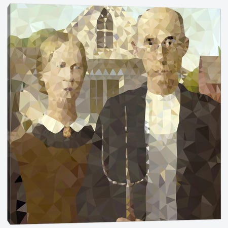 American Gothic Derezzed Canvas Print #DMS17} by 5by5collective Canvas Art Print