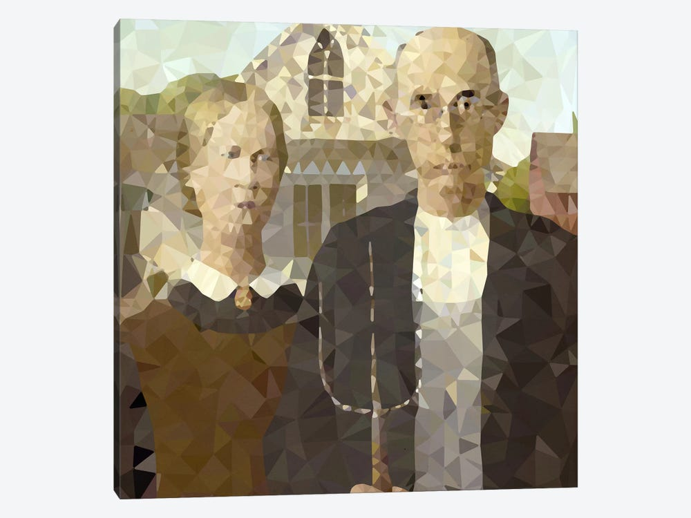 American Gothic Derezzed by 5by5collective 1-piece Art Print