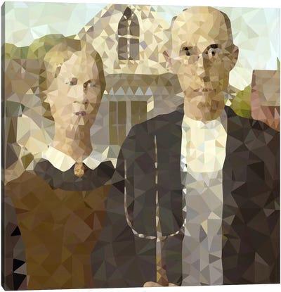American Gothic Derezzed Canvas Art Print