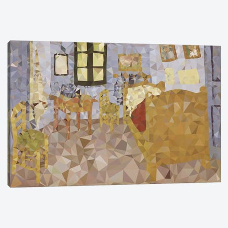 Bed In Arles Derezzed Canvas Print #DMS18} by 5by5collective Canvas Art