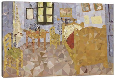 Bed In Arles Derezzed Canvas Art Print