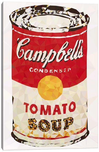 Cambell's Soup Can Derezzed Canvas Art Print