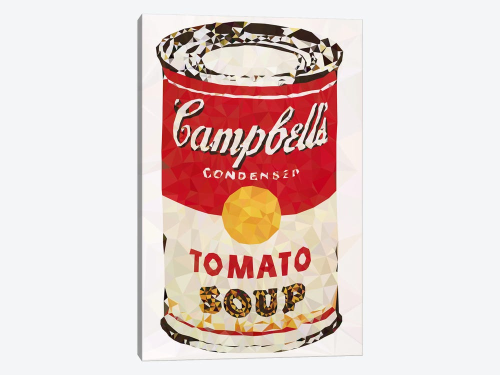 Cambell's Soup Can Derezzed by 5by5collective 1-piece Canvas Art Print