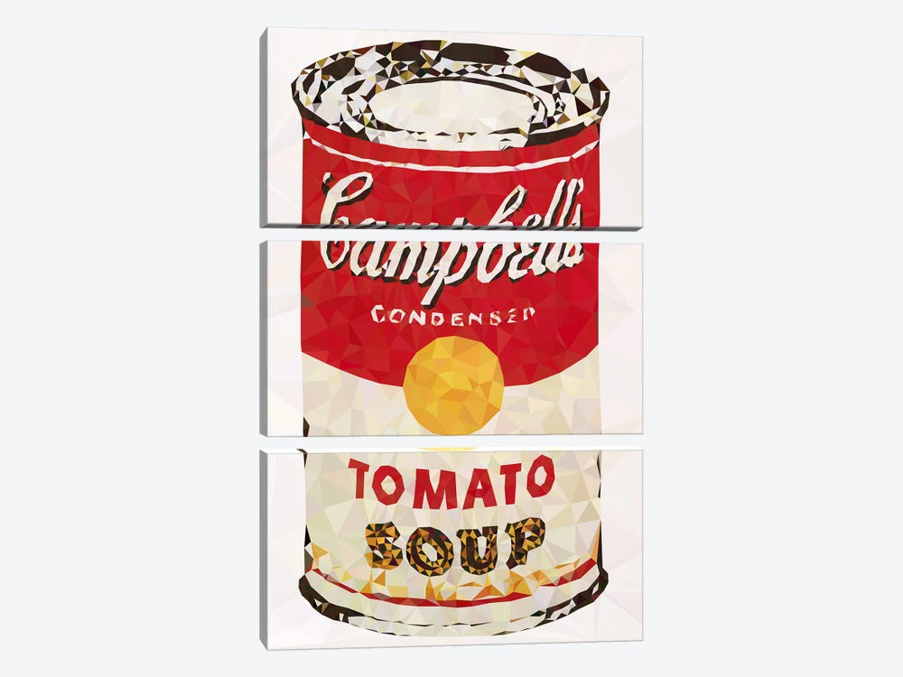 Cambell's Soup Can Derezzed by 5by5collective 3-piece Art Print