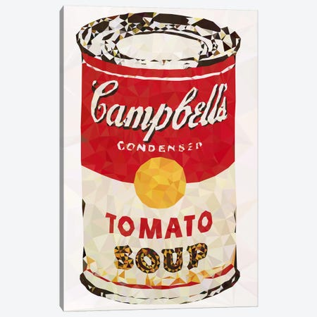 Campbell's Soup Can Derezzed Canvas Print #DMS19} by 5by5collective Canvas Art