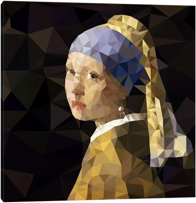 Girl With Pearl Earring Derezzed Canvas Art Print