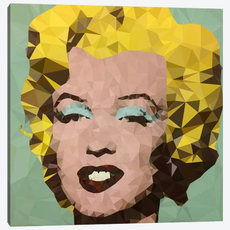 Turquoise Marilyn Derezzed Canvas Print #DMS5} by 5by5collective Canvas Art