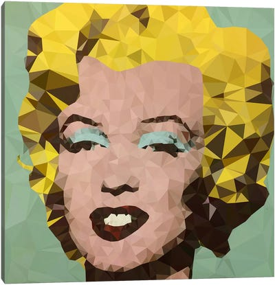Turquoise Marilyn Derezzed Canvas Art Print